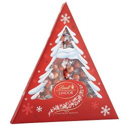 Lindt LINDOR Holiday Tree Milk Chocolate Truffles, Kosher, 17.8 Ounce Box