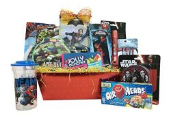 Gift Baskets – Ultimate Superhero Fun & Games Includes Ave – 10 Items For Kids