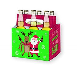 Holiday Beer Lovers Gifts – 6 Pack Craft Beer Carrier Gift Box in Festive Designs –  ...