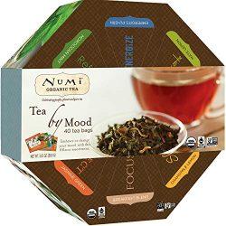 Numi Organic Tea By Mood Gift Set, Tea Gift Box, 40 bags, Assortment of Premium Organic Black, P ...