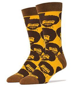 Oooh Yeah Men's Luxury Combed Cotton Crew Socks Bob Ross Flash Mob