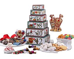 12 Days of Christmas Gift Tower With Ghirardelli, Godiva, Lindt and more perfect as a Family Gif ...