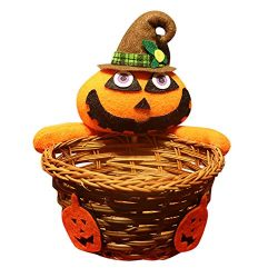 Candy Basket,AutumnFall Clearance Sale! Doll Fruit Decoration Bowl Halloween Ghost Candy Basket  ...