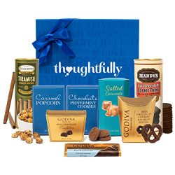 Sweet Treats and Godiva Chocolate Snacks Gift Box by Thoughtfully | Includes Godiva Chocolate Tr ...