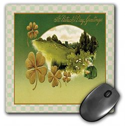 3dRose Beverly Turner St Patrick Day Design – Ireland Postcard Style, Young Girl, Basket o ...