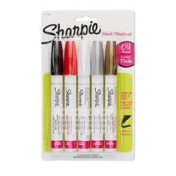 Sharpie Oil-Based Paint Markers, Medium Point, Assorted & Metallic Colors, 5 Count – G ...