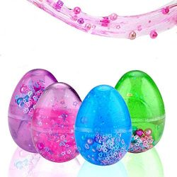 Sloueasy- Easter Eggs Putty Fluffy Slime, Soft Scented Stress Relief Sludge Clay Slime Jumbo Mud ...