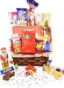 Christmas Gift Food Basket Godiva, Starbucks, Chocolate, Santa, Walkers,Cookies – Perfect  ...