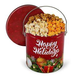 GourmetGiftBaskets.com Christmas Ornaments Popcorn Tin (Traditional Mix)