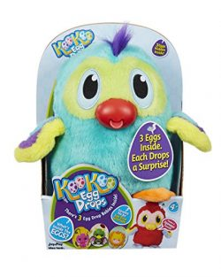 KooKoo Egg Drops (Blue Macaw) by Jay at Play – Includes KooKoo Bird with (3) Surprise Eggs Hidin ...