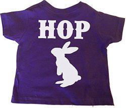 Custom Kingdom Little Girls Hop Easter Bunny Rabbit T-Shirt (3T, Purple)