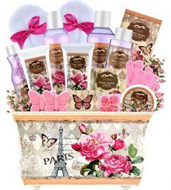 Christmas Gift Baskets for Women-Deluxe Bath Basket Spa Set Gardener Gift Basket-Purelis Natural ...