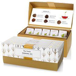 Tea Forté WARMING JOY Presentation Box Tea Sampler Gift Set, Assorted Variety Tea Box, 20 Handcr ...