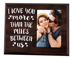 Elegant Signs Long Distance Relationships Gifts – Going Away Couples Picture Frame 4× ...