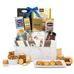 The Cottage Sweet & Savory Gift Basket by Thoughtfully | Contains Tuscan Crisps, Crackers, C ...