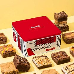 David's Cookies Assorted Brownies Tin – Delicious, Fresh Baked Brownie Snacks – Gourmet Pure Cho ...