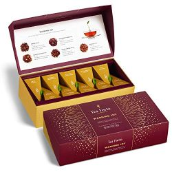 Tea Forté WARMING JOY Petite Presentation Box Tea Sampler Gift Set, Assorted Variety Tea Box, 10 ...