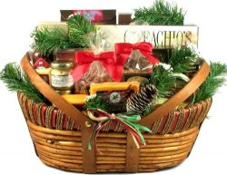 Holiday Meat and Cheese Gift Basket with Wisconsin Sausages and Cheeses for Christmas (Large), 1 ...