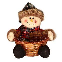 FIN86 Christmas Candy Storage Basket,New Year Gift for Children,Santa Claus Storage Basket Gift  ...