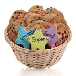Super Stars Cookie Gift Basket- 24 Pc.