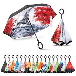 Sharpty Inverted Umbrella, Best Windproof Umbrella, Reverse Umbrella, Umbrella with UV Protectio ...
