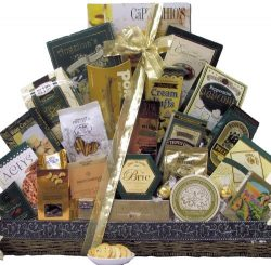 Great Arrivals New Year's Gift Basket, New Year's Grand Gourmet