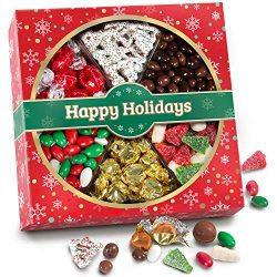Christmas Holiday Candy, Snacks and Chocolate Gift Box