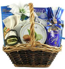 Gift Basket Village Hanukkah Kosher Celebration Chocolate Basket, 8 Pound