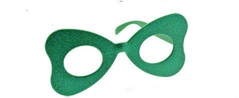 St. Patrick's Day Irish Glittery Plastic Novelty Glasses HEART