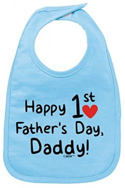Fathers Day Gift from Baby Fathers Day Gift Happy 1st Fathers Day Baby Bib Light Blue