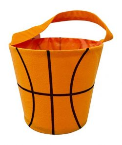 Halloween Basket – Round Bucket Bag for Toys – Storage Bucket – Basketball