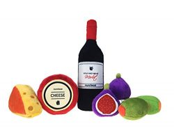 munchiecat Wine and Cheese Cat Toys 7 Piece Variety Set | Wine Bottle, Cheese, Figs & Olives ...