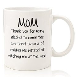 Funny Mom Gifts – Gag Mug: Thank You For Using Alcohol – Best Christmas Gifts For Mo ...