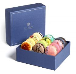 French Macarons Gourmet Cookies Premium Chocolate Gift Box Basket Care Package Snacks Desserts F ...