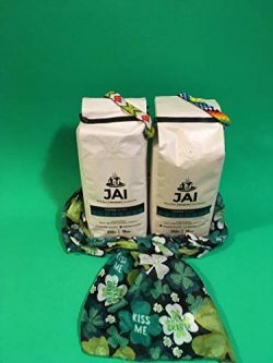 St. Patricks Day Gift Basket for Coffee Lovers -2 bags of Colombian Coffee Jai