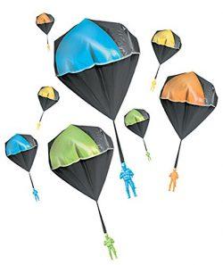 Aeromax Tangle Free GLOW Parachute BLUE GREEN ORANGE OR YELLOW 1 pack