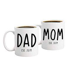 New Parents Pregnancy Announcement Coffee Mug Set 11oz