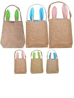 Easter Bags Easter Bunny Basket Easter Party Gifts/Eggs Bag for Easter Hunt by Ysxuan (Pink+Gree ...
