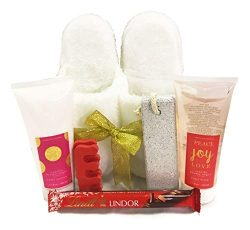 Complete Christmas, Birthday, Thinking of You, I Love You, Spa Slipper (Small/Medium) Gift Baske ...