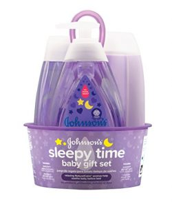 Johnson's Sleepy Time Baby Gift Set with Relaxing NaturalCalm Aromas, Bedtime Essentials,  ...