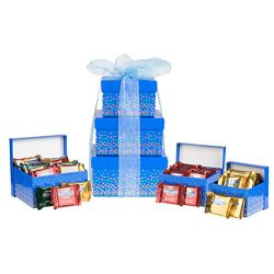Ghirardelli Assortment Tower, Luxury Chocolate Gift Set, 3-Tier Holiday Speckle
