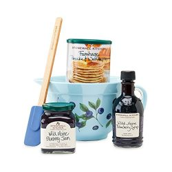 Stonewall Kitchen Breakfast Gift Baskets and Sets (5 Piece Blueberry Gift Set)