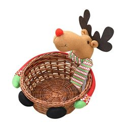 SUKEQ Christmas Santa Claus Candy Storage Basket Decoration for Candy, Cookies, small gifts (136 ...