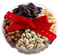 Valentine's Day Medium Nut Gift Basket, Unique Healthy Online Prime Delivery Idea For Roma ...