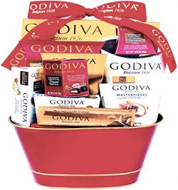 Godiva Chocolatier DELUXE Gift Basket – New 2018 Assortments (11 Count)