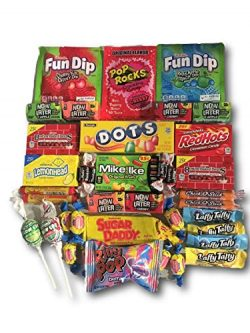 Old Fashioned Candy Variety Care Package by AtHomePlus (40 Count) -Perfect Gift for College Dorm ...