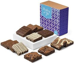 Fairytale Brownies Thinking of You Nut-Free Dozen Gourmet Chocolate Food Gift Basket for Sympath ...