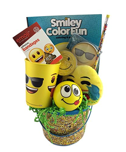 Emoji Themed Gift Basket Cup Stickers Pencil Wrist Band Get Well Birthday