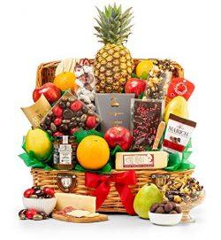 GiftTree Taste of Extravagance Fruit Basket | Fresh Pineapple, Oranges, Pears & Apples | Inc ...