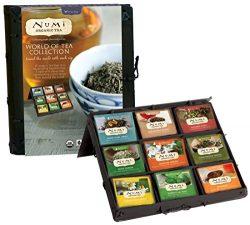 Numi Organic Tea World Of Tea Variety Gift Set, 45 Bags, Organic Tea Gift Box with Black, Green, ...